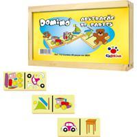 Brinquedo Ciabrink Jogo De Dominó Abstraçáo De Partes Amarelo - Tricae