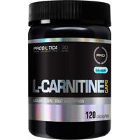 L-Carnitine Caps Formulada Com Cápsulas Líquidas De Rápida Absorção - 120 Cápsulas - Probiotica