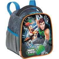 Lancheira Infantil Max Steel 19X - Masculino-Azul