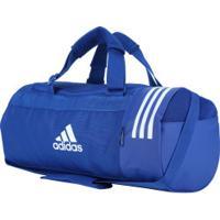 Mala Adidas Conversível 3S Duffel S - Azul/Branco