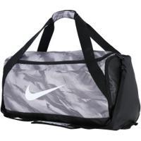 Mala Nike Brasilia Duffel Média - 61 Litros - Cinza/Preto