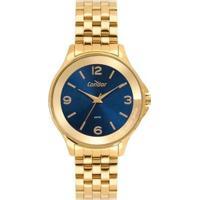 Relógio Condor Metal Feminino - Feminino-Dourado
