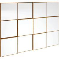 Painel Decorativo Tb87 Espelhado 100Cm Freijó