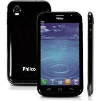 """Smartphone Philco Phone 501 - 3G - Tv Digital - Dual Chip - Tela De 5"""" - 8Mp - Android 4.1 - Preto"""