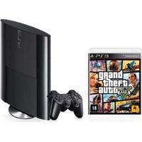 Console Playstation 3 Sony Com 250 Gb De Memória + Jogo Grand Theft Auto V + Controle Sem Fio Dualschock 3