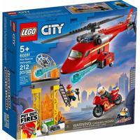 City Lego Helicóptero De Resgate Dos Bombeiros