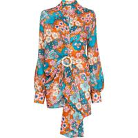 Dodo Bar Or Vestido Mini Lora Com Estampa Floral - Azul