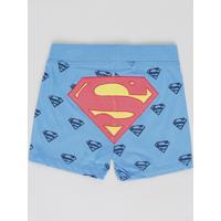 Short Infantil Super Homem Estampado Azul