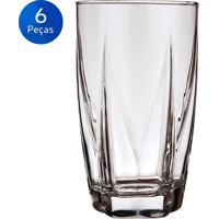 Conjunto De Copos Long Drink Estela 460Ml 6 Peças - Nadir - Transparente