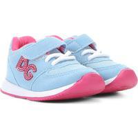 Tênis Infantil Danguinho My Star Feminino - Feminino-Azul Claro