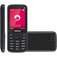 Celular Positivo, 128Mb, 3G, Dual Chip, Bluetooth, Cã¢Mera, Preto - P30