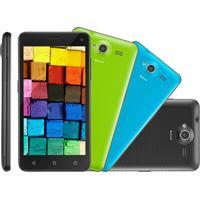 Smartphone Multilaser Ms50 Preto, Android 5, Dual Cam, Tela 5, Dual Chip, 16Gb