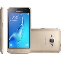 Smartphone Samsung Galaxy J1 2016, Dual, 8Gb, 5Mp, 3G, Dourado, Vivo - J120