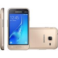Smartphone Samsung Galaxy J1 Mini, Dual, 8Gb, 5Mp, 4G, Dourado, Oi - J105B
