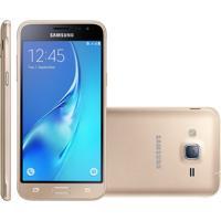 Smartphone Samsung Galaxy J3 Duos, 4G, 8Gb, 8Mp, Dourado - J320M