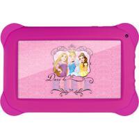 Tablet Infantil Disney Princesa, Quad Core, Dual Cã¢Mera, Tela 7, Wi-Fi, 8Gb