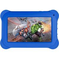 Tablet Infantil Disney Vingadores, Quad Core, Dual Cã¢Mera, Tela 7, Wi-Fi, 8Gb