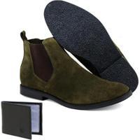1f99723bbb5c7 Netshoes; Kit Botina Escrete Couro Camurça Com Carteira Dia A Dia Masculino  - Masculino