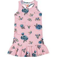 Vestido Floral- Rosa Claro & Azul- Marisolmarisol