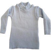 Blusa Cacharrel De Tricô Infantil 0 A 12 Azul Claro