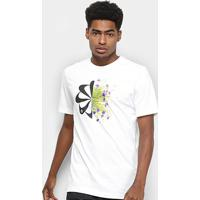 Camiseta Nike Dri-Fit Wild Run Flowers Masculina - Masculino-Branco
