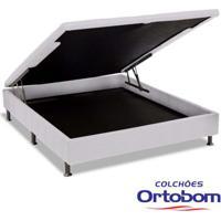 Box Casal Com Baú Physical - Branco - Ortobom