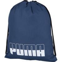 Gym Sack Puma Plus Ii - Azul Esc/Branco