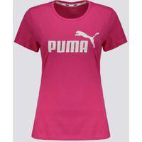 Camiseta Puma Essentials Logo Feminina Rosa