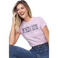 Camiseta Polo Ralph Lauren Lettering Rosa