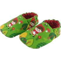 Pantufa Tatibella Baby Chapeuzinho Vermelho Verde