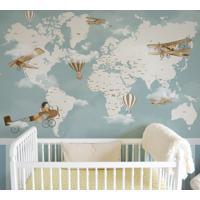 Papel De Parede Mapa Infantil Ursos