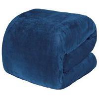 Cobertor Casal Blanket 300 Azul Jeans - Kacyumara