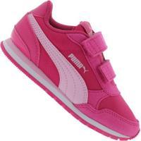 Tênis Puma St Runner V2 Nl V - Infantil - Rosa