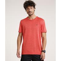 Camiseta Masculina Esportiva Ace Com Estampa Geométrica Manga Curta Gola Careca Vermelho
