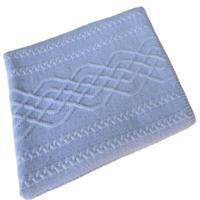 Manta Tricot Decorativa Cama Sofá 120Cm X 150Cm Cod 1026.5 Azul Bebe