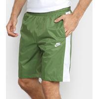 Short Nike Nsw Woven Core Masculino - Masculino-Verde+Branco