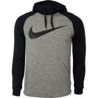 Blusão Com Capuz Nike Therma - Masculino - Cinza/Preto