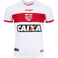Camisa Do Crb I 2018 Nº 10 Rinat - Masculina - Branco/Vermelho