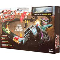 Pista De Percurso Com Veã­Culos Crash Racers 2 Carrinhos Multikids - Marrom - Masculino - Dafiti