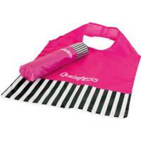 Sombrinha Pink E Listrada Que Acompanha Bolsa