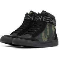 Tênis Sneaker K3 Fitness Six Camuflado Preto/Verde
