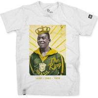 Camiseta Stoned Só Pelé Masculina - Masculino-Branco