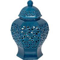 Vaso De Porcelana Pretorio