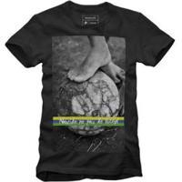 Camiseta Reserva País Do Futebol - Masculino-Preto