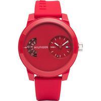 1e7089957a8 Relógio Tommy Hilfiger Masculino Borracha Vermelha - 1791557