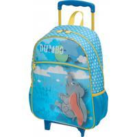 Mochila De Rodinhas Disney Dumbo | Cor: Azul