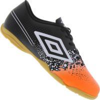 Chuteira Futsal Umbro Wave In - Adulto - Preto Laranja 64c05919be4bd