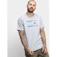 Camiseta Hurley Silk Radio Masculina - Masculino-Mescla