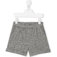 Douuod Kids Micro Houndstooth Shorts - Cinza