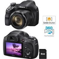 Câmera Digital Sony Dsc-H400 Preta - 20.1 Mp, Lcd De 3 , Zoom Óptico De 63X, Estabilizador Óptico E Vídeo Hd + Cartão De 8Gb
